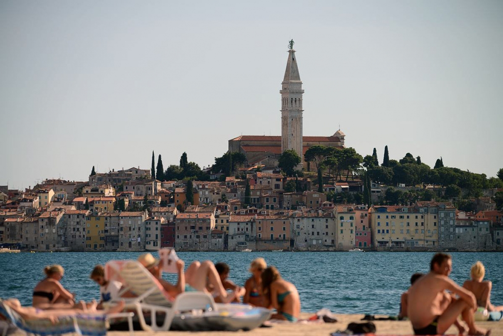 Porton Biondi Beach in Rovinj